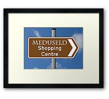 Meduseld Shopping Centre Framed Print