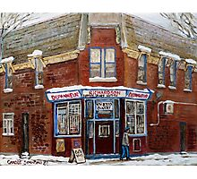SCENES OF POINTE ST. CHARLES MONTREAL DEPANNEUR RICHARDSON BEST MONTREAL ART CANADIAN PAINTINGS Photographic Print