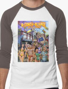SheVibe Takes On Key West Fantasy Fest Men's Baseball ¾ T-Shirt