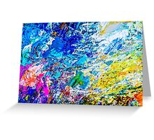 Art of color palette Greeting Card