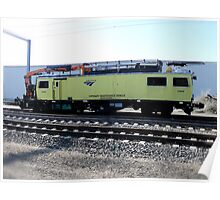 Amtrak Catenary Maintenance Unit in Kingston Yard Poster