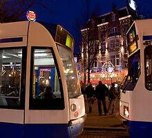 Two Trams by Bradley Old