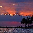 Sunset Over Honolulu by Bradley Old