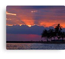 Sunset Over Honolulu Canvas Print