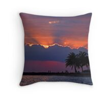 Sunset Over Honolulu Throw Pillow