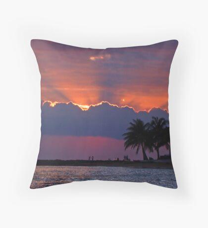 Sunset Over Honolulu Throw Pillow