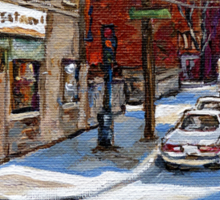 CANADIAN PAINTINGS BY CANADIAN ARTIST MONTREAL ART MONTREAL RESTAURANT CITY SCEN PAINTINGS  Sticker