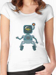 Cute little Robot Women's Fitted Scoop T-Shirt