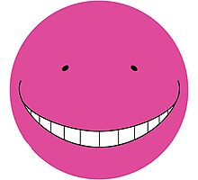 Korosensei Purple Round Face Photographic Print