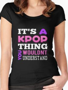 A KPOP THING - BLACK Women's Fitted Scoop T-Shirt