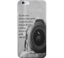 Life is Like a Camera iPhone Case/Skin