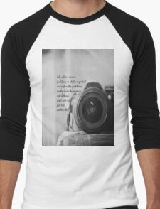 Life is Like a Camera Men's Baseball ¾ T-Shirt