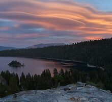 Cloud Show over Emerald Bay by Richard Thelen