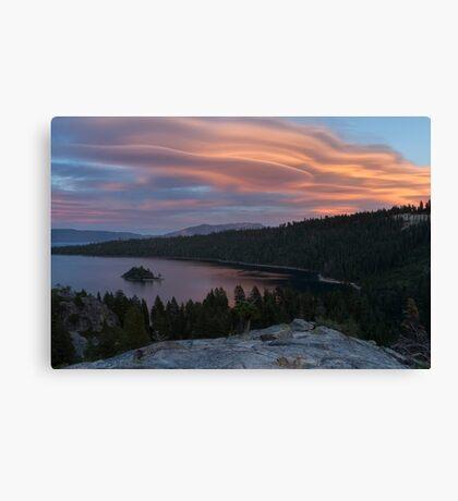 Cloud Show over Emerald Bay Canvas Print