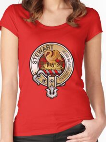Stewart Clan Crest Women's Fitted Scoop T-Shirt
