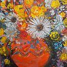 vase of flowers  by catherine walker