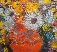 vase of flowers  by catherine walker