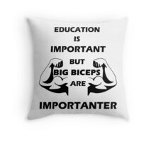 Big Biceps Throw Pillow