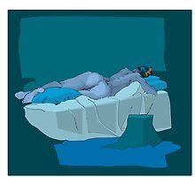 female nude reclining by David  Kennett