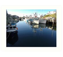 Fishing Village-Bay of Fundy Art Print
