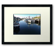 Fishing Village-Bay of Fundy Framed Print