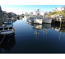 Fishing Village-Bay of Fundy Photographic Print
