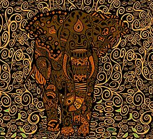 Aztec Elephant with floral Pattern by Arief Rahman Hakeem