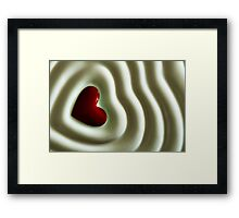 Heart Wave Framed Print