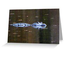 Alligator Among Us Greeting Card