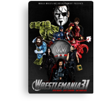 Wrestlemania 31: Avengers poster Canvas Print