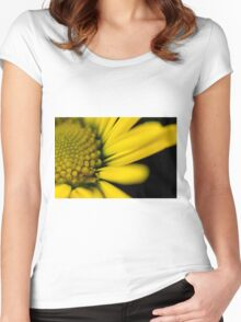 Melo Yellow Women's Fitted Scoop T-Shirt