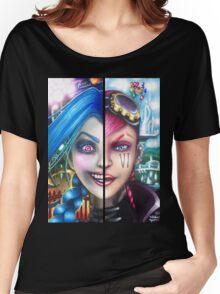 Vi and Jinx (Zipper Hoodie) Women's Relaxed Fit T-Shirt