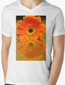 Double Orange Mens V-Neck T-Shirt