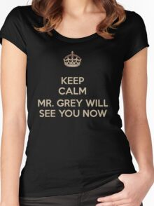 Mr. Grey Will See You Now. Women's Fitted Scoop T-Shirt