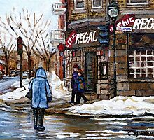 POINTE ST.CHARLES MONTREAL PAINTINGS LA CHIC REGAL CANADIAN ART AND MONTREAL PAINTINGS by Carole  Spandau