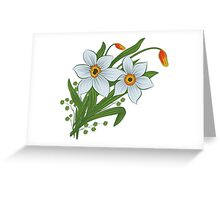 Tulips and daffodils Greeting Card
