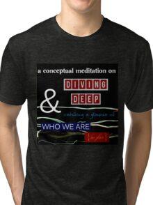 Conceptual Tiny Poem Tri-blend T-Shirt
