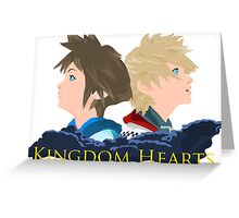 Sora & Roxas Back to Back Greeting Card
