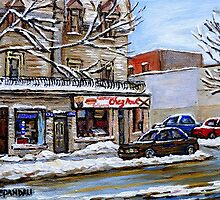 BEST MONTREAL PAINTINGS MONTREAL ART POINTE ST. CHARLES by Carole  Spandau