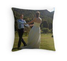 dancing couple Throw Pillow