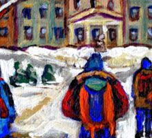 MCGILL UNIVERSITY CAMPUS WINTER CLASSES BEST MONTREAL ART CANADIAN PAINTINGS Sticker