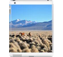 Grazing on volcanic plains iPad Case/Skin