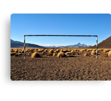 The village pitch  Canvas Print