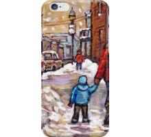 BEST CANADIAN CITY SCENES VERDUN MONTREAL WINTER SCENES iPhone Case/Skin