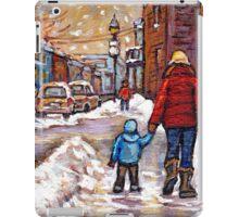 BEST CANADIAN CITY SCENES VERDUN MONTREAL WINTER SCENES iPad Case/Skin