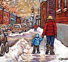 BEST CANADIAN CITY SCENES VERDUN MONTREAL WINTER SCENES by Carole  Spandau