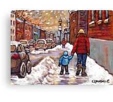 BEST CANADIAN CITY SCENES VERDUN MONTREAL WINTER SCENES Canvas Print