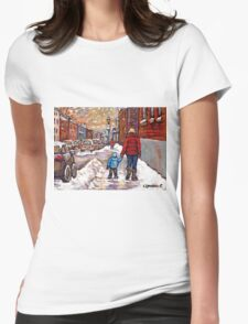 BEST CANADIAN CITY SCENES VERDUN MONTREAL WINTER SCENES Womens Fitted T-Shirt