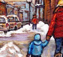 BEST CANADIAN CITY SCENES VERDUN MONTREAL WINTER SCENES Sticker