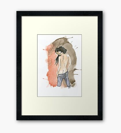 Anonymous nude I Framed Print